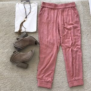 {Anthropologie} Versa Embroidered Jogger
